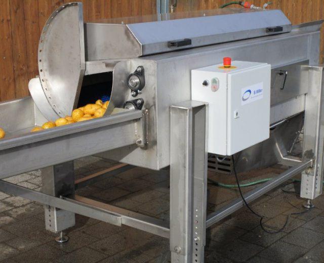 Bürstenwaschmaschine zum bürsten von Gemüse