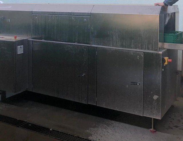 Tunnelwaschmaschine zur Reinigung von Gemüse